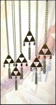 Collier triangle Romantique - 24€