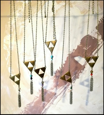 Collier triangle simple - 24€