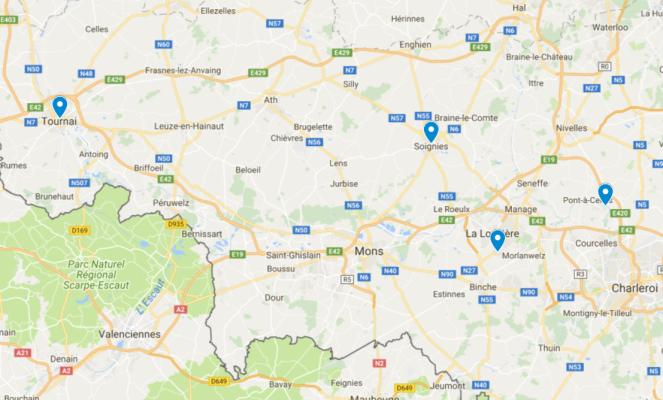 Points de vente Province de Hainaut