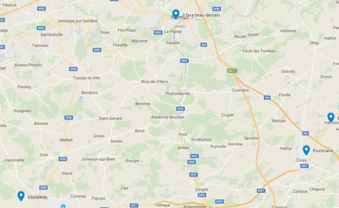 Points vente Province de Namur